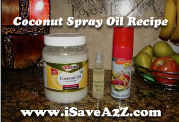 Frugal Recipe:  Homemade Cooking Spray (Coconut Oil and Olive Oil) Recipes!