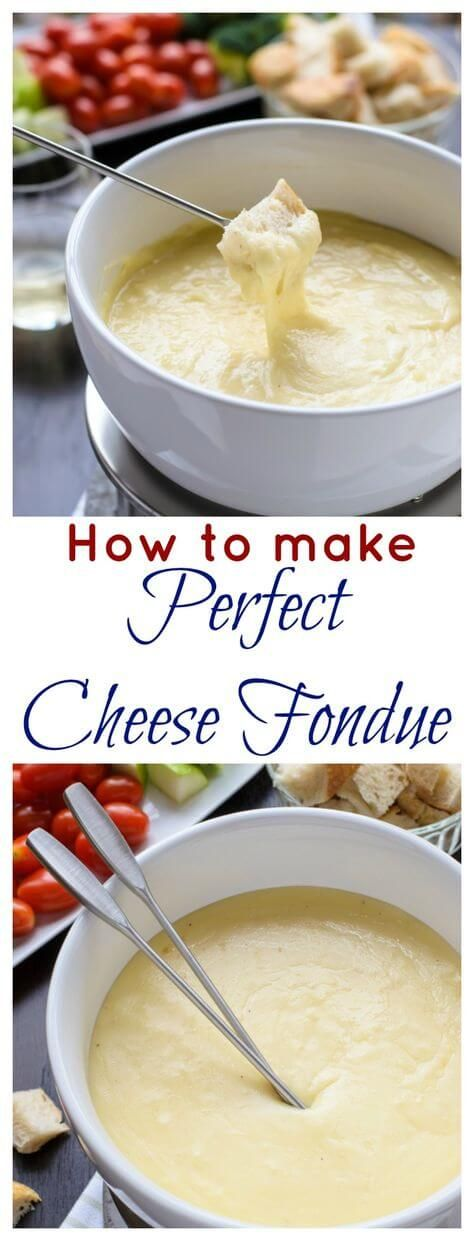 Three Cheese Fondue. A classic cheese fondue recipe, ideas for fondue dippers, and how to make the perfect cheese fondue every time.
