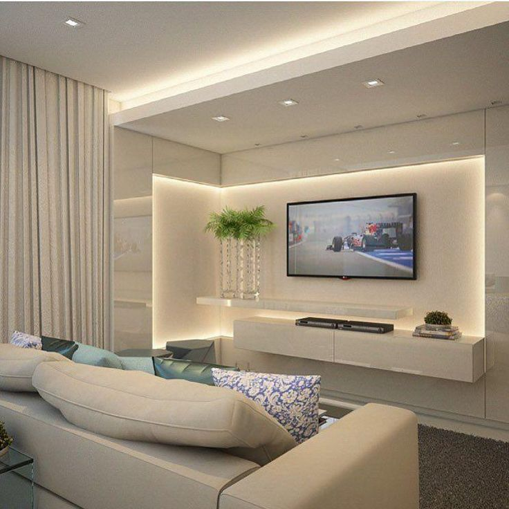 Decorated TV rooms: 115 projects for decoration