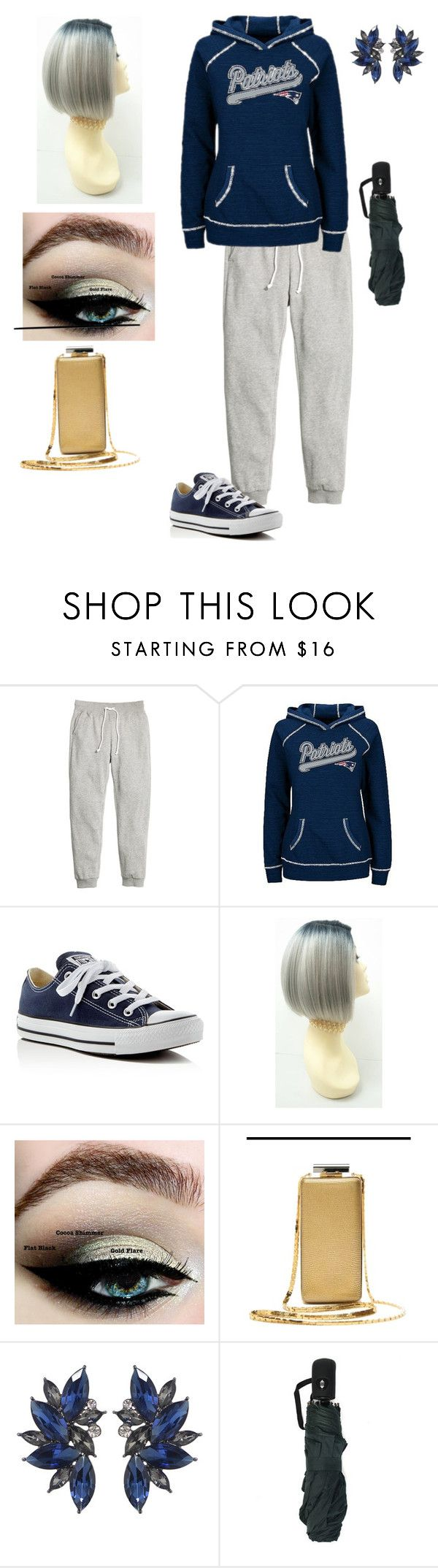"""Patriots playoffs"" by lovableangeldoll ❤ liked on Polyvore featuring H&M, Converse and Lanvin"