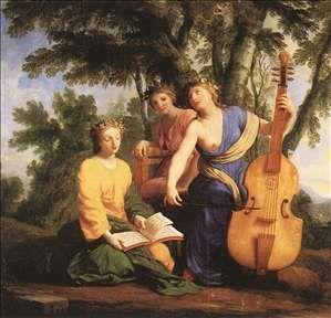 Melpomene, Erato and Polymnia - Eustache Le Sueur