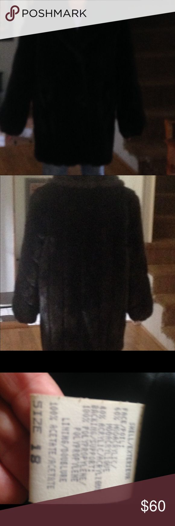 Vintage faux fur coat By Monterey Fashions. 3/4 length. Excellent vintage condition. Cocoa brown, rubbed. Will definitely keep you warm. Sleeves stretchy at wrist. monterey Fashions Jackets & Coats