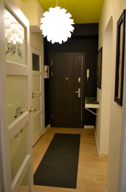 Black wall and lime ceiling-Flugger