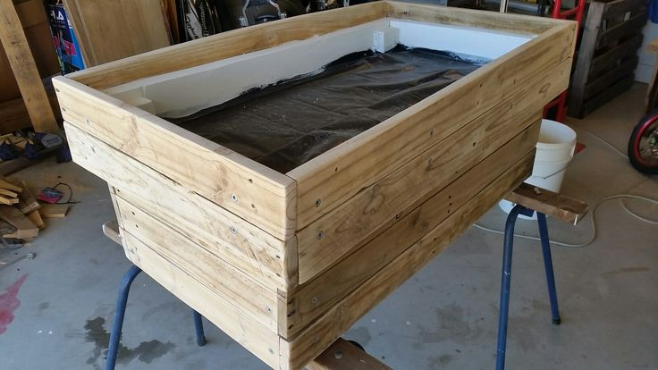 Glass Insert Pallet Coffee Table