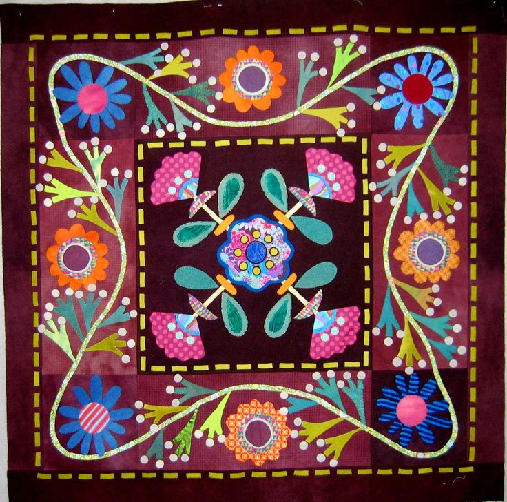 Folk Art Quilt Ideas : 85 best images about Quilts - Applique Goodness on Pinterest Quilt, Wool applique quilts and ...