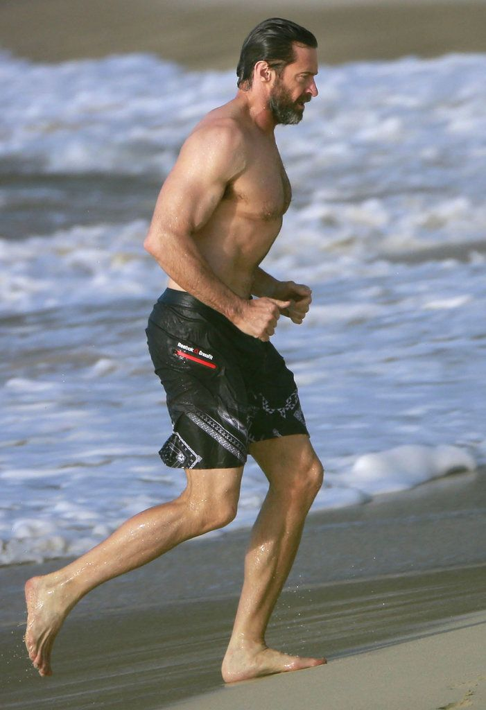 Hugh Jackman Shirtless in St. Barts For His 20th Anniversary | POPSUGAR Celebrity