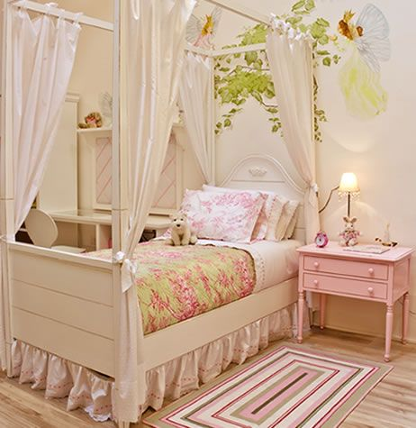 By Casa pronta: Rooms For, Infant The 4Th, The 4Th Girl, Baby Rooms, Casapronta Quartos, Rooms Dark-Blue, Girls Rooms, Casapronta Cama, Kids Rooms