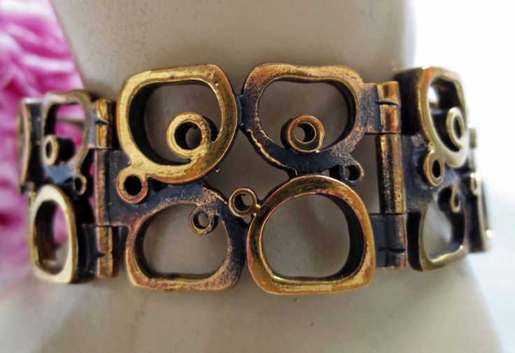 PENTTI SARPANEVA. Hallmarked: P. SARPANEVA, Bronze, FINLAND. Modernist Bronze Bracelet. An elegant and versatile piece of Scandinavian modernist jewellery. probably dating from the late 1960's to early 1970's, Finland. | eBay!