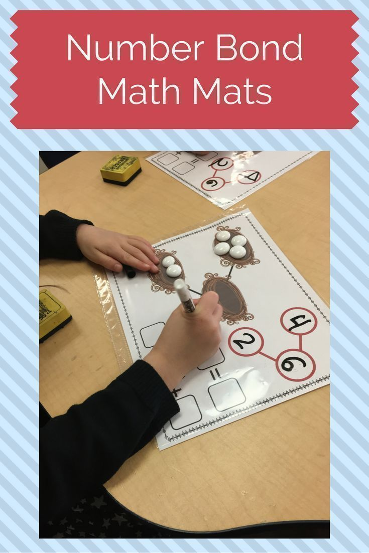 Compose and decompose numbers and explore number combinations using these spring-themed addition number bond math mats