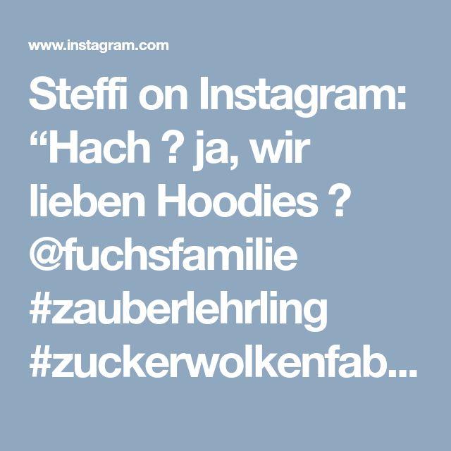 """Steffi on Instagram: """"Hach 💕 ja, wir lieben Hoodies 💕 @fuchsfamilie #zauberlehrling #zuckerwolkenfabrik #fuchsfamilie #spitze #koala #rosa #romantisch #nähen…"""" • Instagram"""