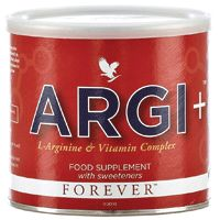 ARGI+ provides all the power of L-Arginine.  Fruit juices which provide nutrients, essential fatty acids & berries that help neutralise free radicals and support healthy ageing and other ingredients which support healthy joint function. Rapidly tops up energy stores and is ideal for high intensity sport. Note: If you have a heart condition, are pregnant or taking other medication, consult your doctor before using this product. £60.36 available from www.rosieking.myforever.biz