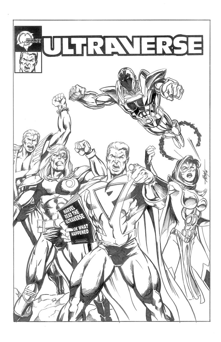 The indie coloring book - Ultraforce By Mc Wyman Indie Comics