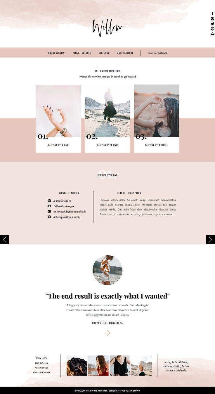 Fashion Website Template For Showit Platform Website Design Layout Website Design Inspiration Creative Web Design