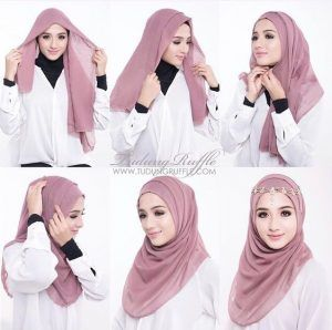 Tutorial Hijab Pesta Simple - http://hijabtuts.com/