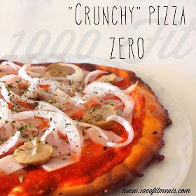 """1000 Fit Meals: #53 """"Crunchy"""" pizza ZERO HC"""