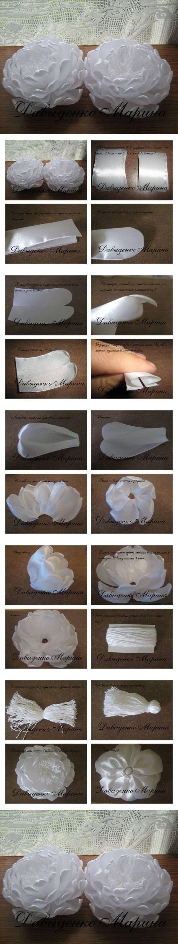 DIY Beautiful White Flower Brooch DIY Beautiful White Flower Brooch by diyforever
