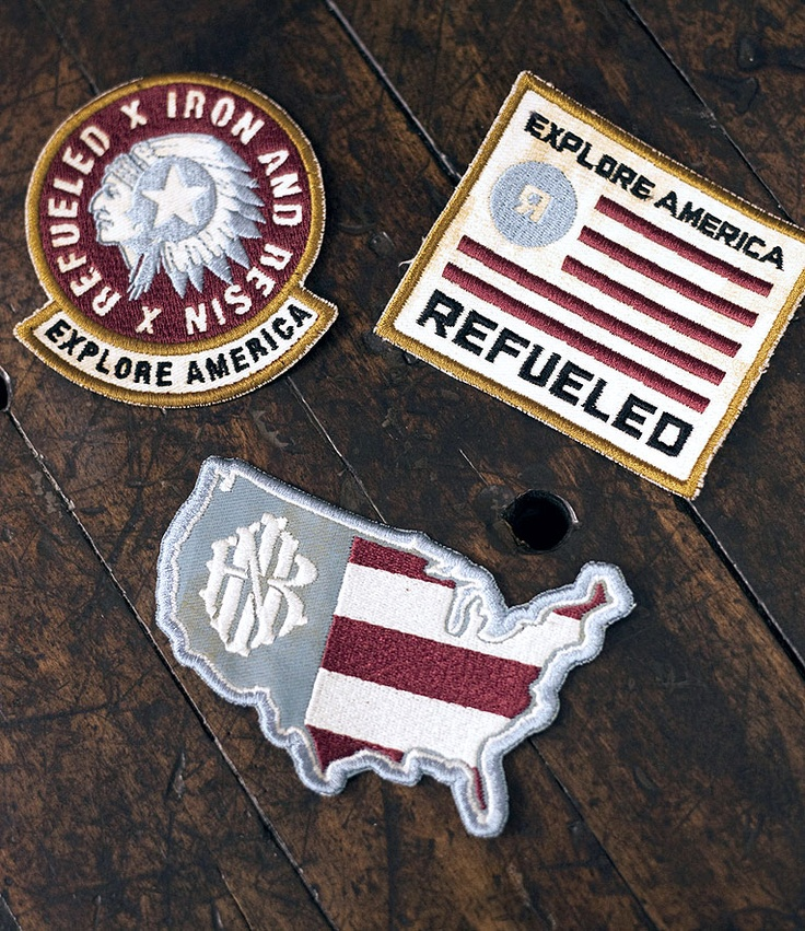 Iron & Resin X Refueled  - Explore America Patch setResins Patches, Moving Design, Exploration America, Diy Resins, Embroidered Patches, Badges O' Graphis, Patches Sets, America Patches, Iron