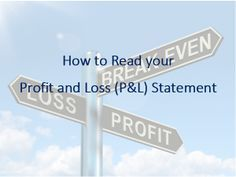 How to Read your Profit and Loss (P&L) Statement