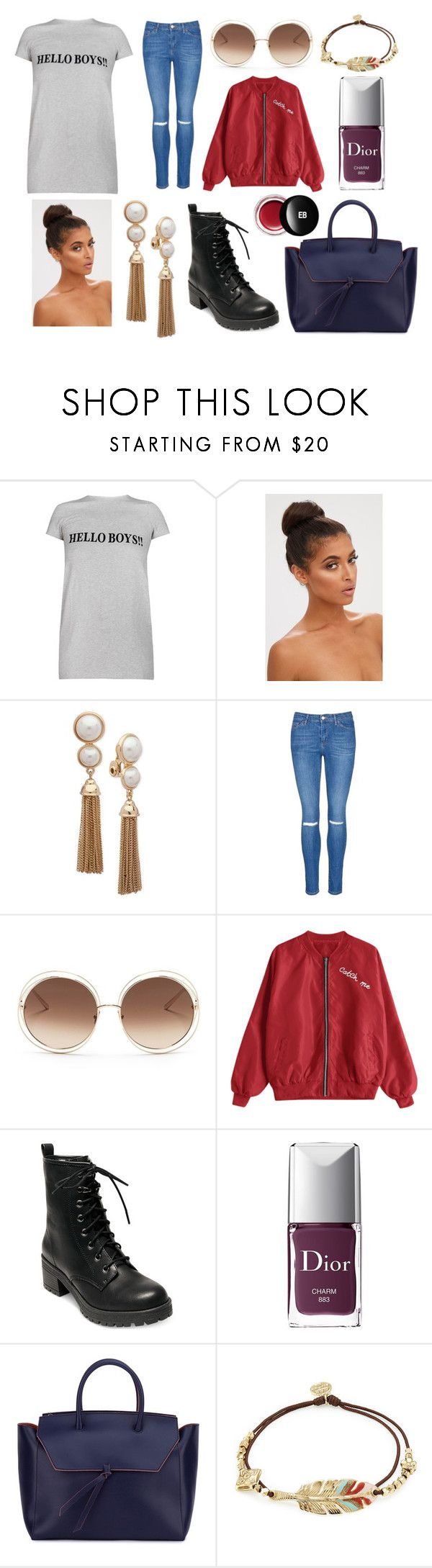 """Outdoor cinema in Michigan"" by hailey-smith-13 ❤ liked on Polyvore featuring Vetements, Anne Klein, Topshop, Chloé, Madden Girl, Christian Dior, Alexandra de Curtis, Gas Bijoux and Edward Bess"