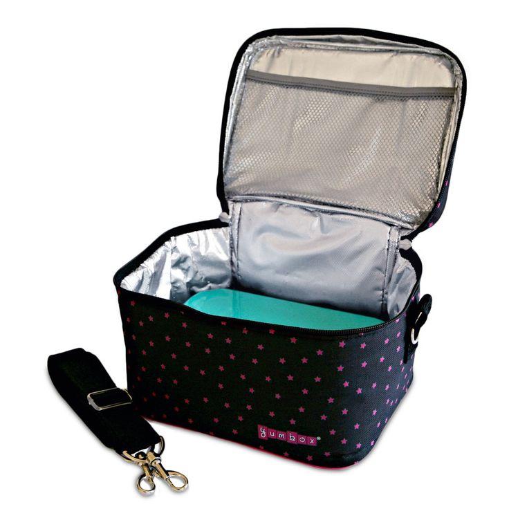 Etoiles Black - Yumbox Small Cooler Bag (open with Yumbox)