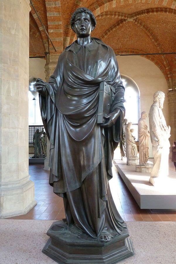 LORENZO GHIBERTI, Santo Stefano, originariamente in una nicchia della Chiesa di Orsanmichele, oggi all'omonimo museo 1427-28