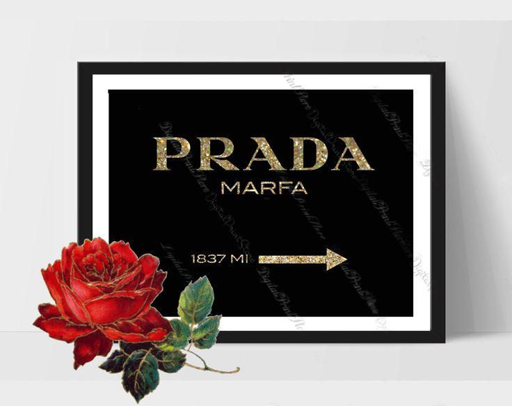 Prada Marfa Print 01, Prada Glitter Wall, Prada Logo, Fashion Quote, Gossip Girl by DigitalPrintStore on #Etsy #gift #prada #pradamarfa