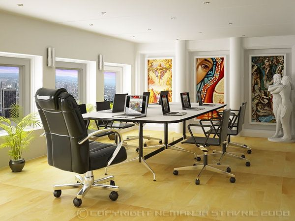 Meeting room art inviting conference rooms pinterest for Office design video conferencing