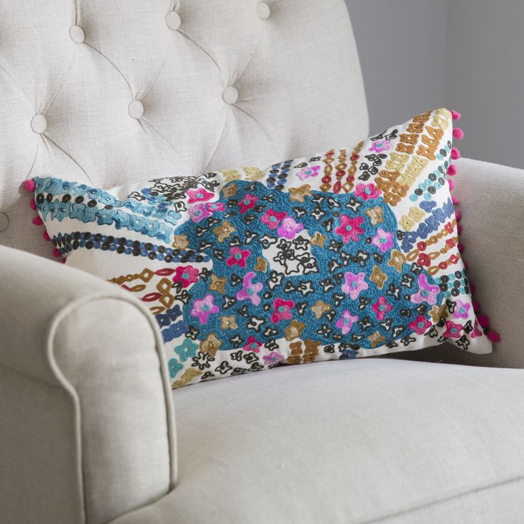 Flower Burst Cushion   www.atkinandthyme.co.uk