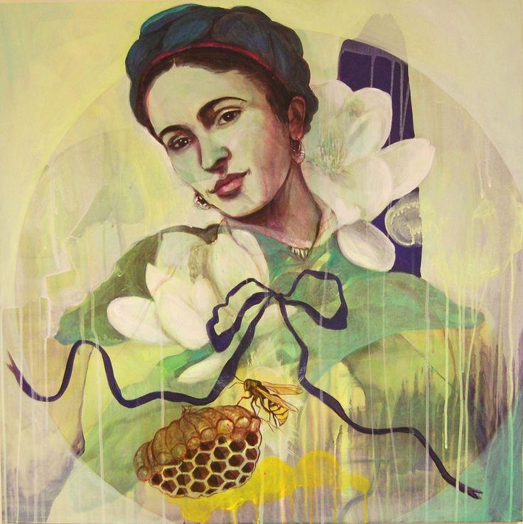 """""""Flowers to Frida"""" By Norwegian artist Gro Mukta Holter"""