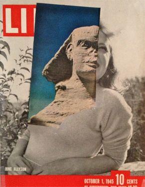 "Saatchi Online Artist Deborah Stevenson; Assemblage / Collage, """" Stony Gaze """" #art"