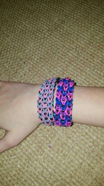 Fun loom triple Single bracelets!!