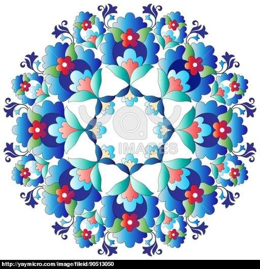 Ottoman motifs design series with fourteen version