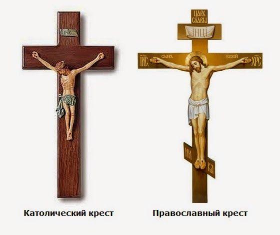 Деревянные кресты ручной работы - Изготовление и установка крестов в Москве: Отличия православного креста