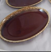 Vintage Hull Pottery BROWN DRIP Serving Platter Oval Plate 12x9 Oven Proof USA & 18 best HULL BROWN DRIP DISHES images on Pinterest | Dinnerware ...