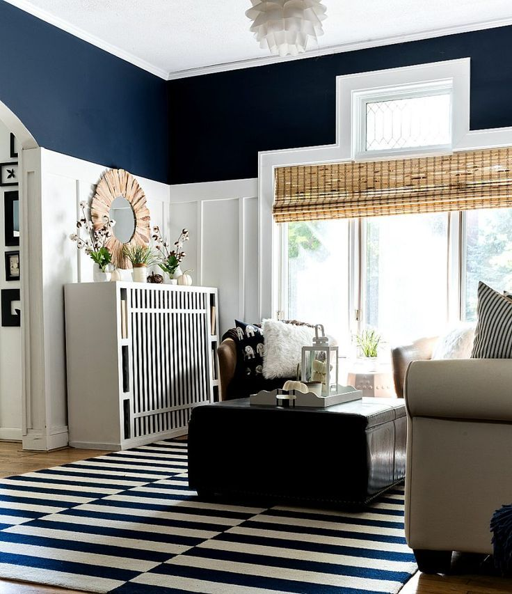 Fall Decor In Navy White It All Started With Paint Sherwin Williams Blue Paint Sherwin Williams Blue Blue Paint Colors