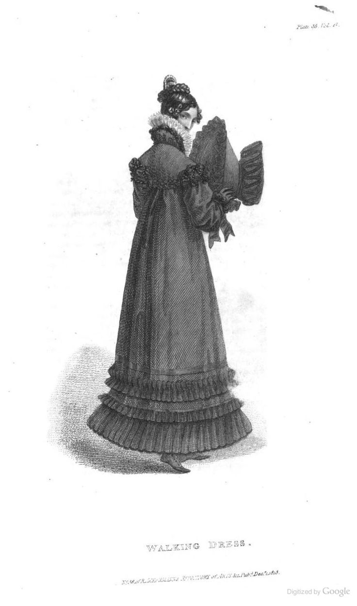 Walking Dress from Ackermann's Repository of the Arts December 1818