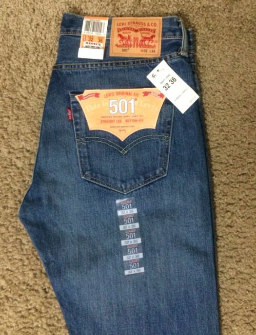 030f350d437 Levis 501-2000 Mens Straight Leg Button Fly SZ 38 x 32  1236 ...