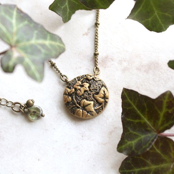 Hey, I found this really awesome Etsy listing at https://www.etsy.com/listing/219597898/gold-ivy-necklace-antique-brass-ivy-vine