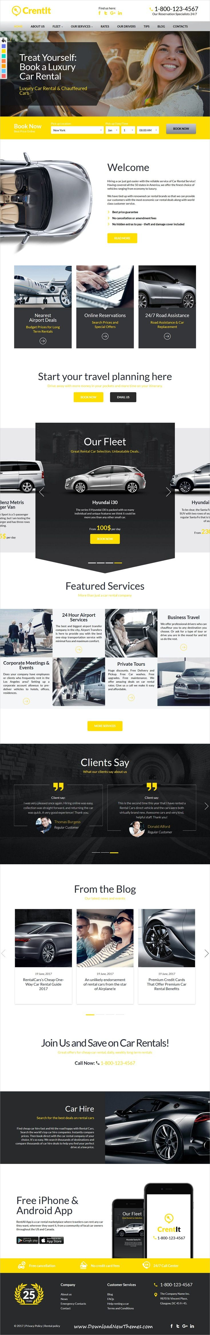 Crentit Is Clean And Modern Design Responsive Wordpress Theme For Car Rental And Booking Service Companies Wordpress Theme Responsive Wordpress Theme Theme