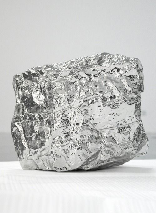 7while23:  Zhan Wang, Artificial Rock A-63, 2007 (Stainless Steel)