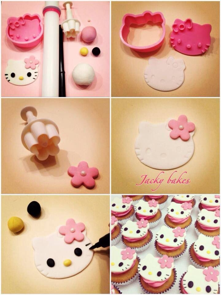 Hello Kitty Cupcakes Tutorial