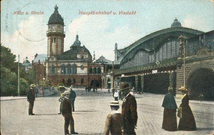 Köln HBF und Viadukt 1909