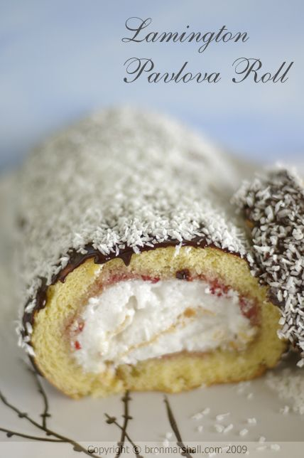 Lamington Pavlova Roll for ANZAC Day