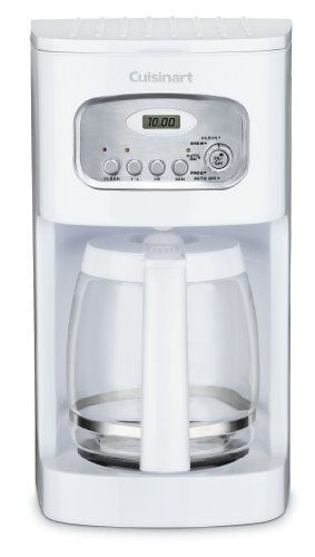 Cuisinart DCC-1100 12-Cup Programmable Coffeemaker, White Best Price.  Cuisinart DCC-1100 12-Cup Programmable Coffeemaker, White Feature: Fully programmed coffeemaker with 24-hour programmability and flexible auto-shutoff fro