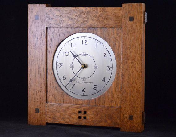 Craftsman II Medium  Mission Style Wall Clock