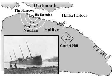 Map of Halifax Explosion