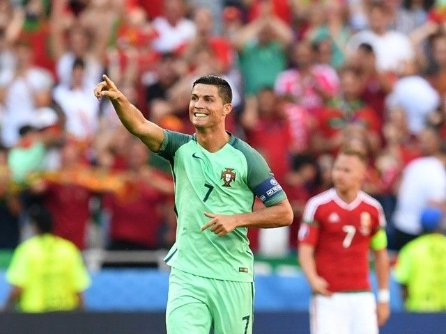 Cristiano Ronaldo equals Michel Platini's European Championship record #Euro2016 #Portugal #Football