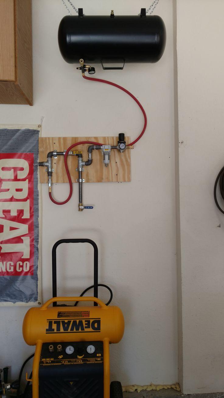 Homemade Air Compressor Piping With Pressure Regulator