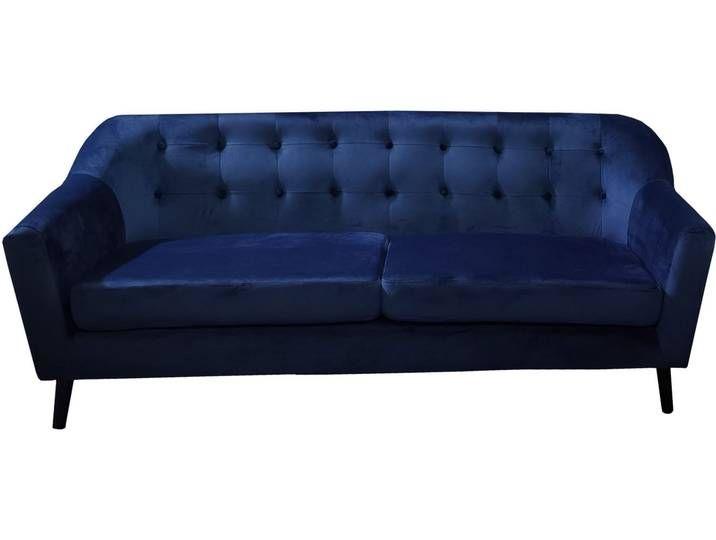 Mason 3 Sitzer Sofa Samt Dunkelblau In 2020 Sofa Velour Sofa Furniture