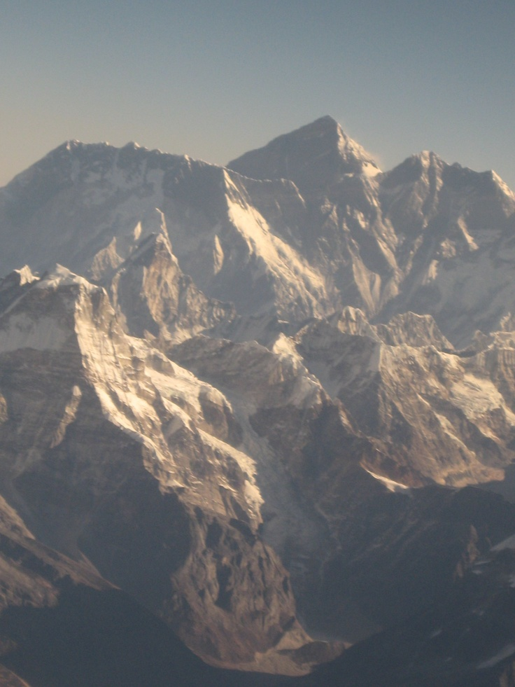 Himalayan mountains from plane